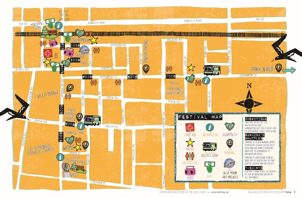Peter Anderson Festival Map
